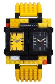 Nanoblocktime Traveler Watch, Yellow