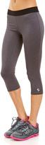 Soffe Heather Gray & Black Dri Capri Pants - Women