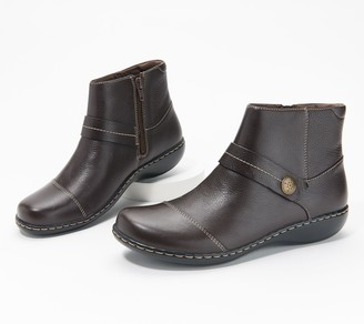 Clarks Collection Leather Ankle Boots - Ashland Pine