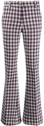 Tommy Hilfiger Plaid Flared Trousers