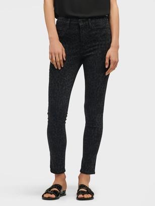 DKNY Women's High-rise Leopard Print Skinny Jean - Black - Size 24