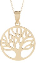 Candela 10K Yellow Gold Tree of Life Charm Necklace