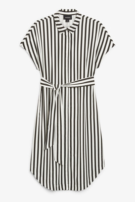 Monki Belted hidden button shirt dress