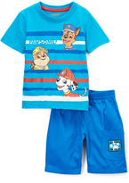 Children's Apparel Network PAW Patrol Blue Nick Tee & Shorts - Toddler