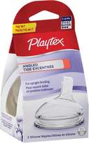 Playtex Baby Angled Silicone Baby Bottle Nipples