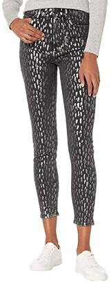 7 For All Mankind The High-Waist Skinny in Foil Snow Leopard (Foil Snow Leopard) Women's Jeans