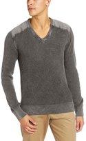 Alex Stevens Men's Military V-Neck Sweater