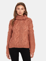 Moon River Cable Knit Turtleneck Sweater