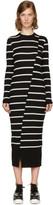 McQ Black Distort Stripe Dress