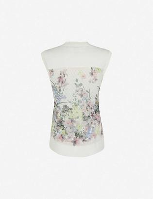 Ted Baker Pergola floral print woven vest