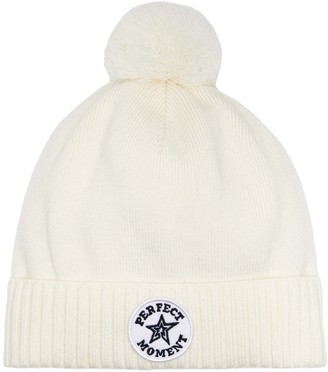 Perfect Moment Patch II Wool-Blend Beanie
