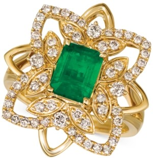 LeVian Le Vian Costa Smeralda Emerald (1-1/5 ct. t.w.) & Nude Diamond (5/8 ct. t.w.) Statement Ring in 14k Gold