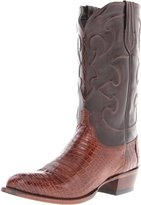 Lucchese Men's Charles Belly Caiman Crocodile Leather Boots
