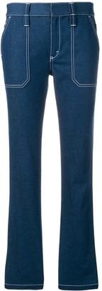 Chloé Contrast Stitched Jeans