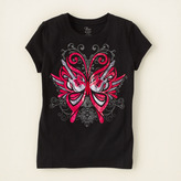 Children's Place Guitar butterfly graphic tee