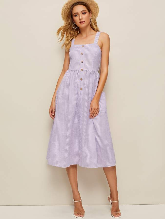 76e09d48f5 Shirred Back Dress - ShopStyle