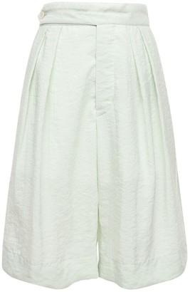 MONCLER GENIUS Bermuda Washed Silk Blend Shorts