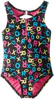 Roxy Big Girls' Pop Logo Zipper 1 Piece