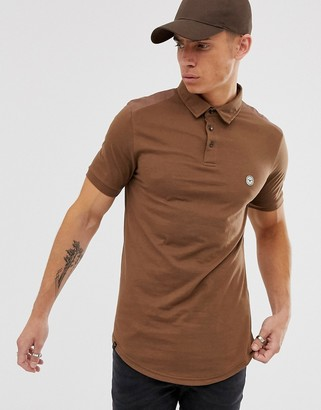 Le Breve slim fit polo shirt-Red