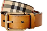 Burberry Horseferry Check & Leather Belt