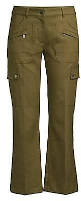 Michael Kors Women's Flared Cropped Cargo Pants - Size 0