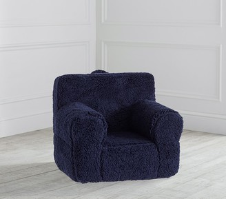 Pottery Barn Kids My First Navy Cozy Sherpa Anywhere Chair
