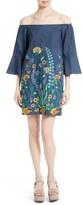Alice + Olivia Women's Kyra Embroidered Tunic Dress