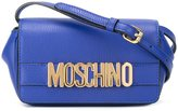 Moschino logo plaque crossbody bag - women - Leather - One Size