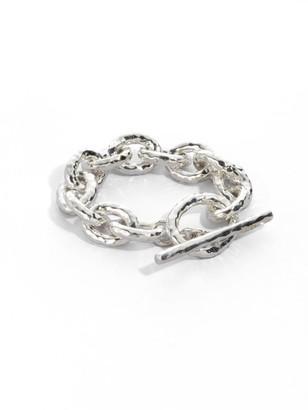 Ippolita Classico Jumbo Sterling Silver Hammered Bastille Link Bracelet