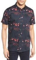 Ted Baker Men's Extra Slim Fit Flamingo Print Sport Shirt