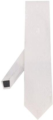 Gianfranco Ferré Pre Owned Woven Logo Tie