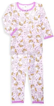Esme Little Girl's & Girl's Shimmer Unicorn 2-Piece Pajama Set
