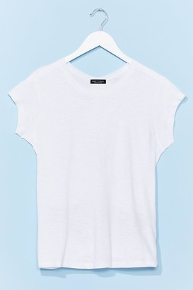 Nasty Gal Womens Tie So Serious Cut-Out Relaxed Tee - White