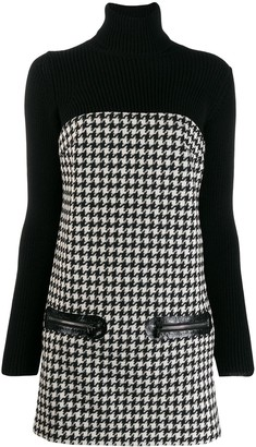 Philipp Plein Houndstooth Knitted Dress