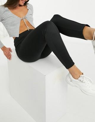 Miss Selfridge ponte slim leg trousers in black