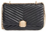 Topshop Quilted Crossbody Bag - Black