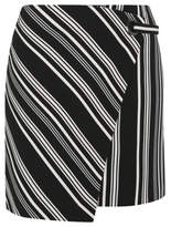 George Stripe Print Wrap Skirt