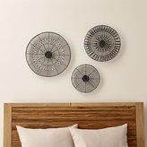 Crate & Barrel 3-Piece Intricate Circle Metal Wall Art Set