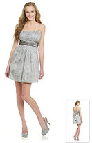 Morgan and Co. Juniors' Silver Glitter Party Dress