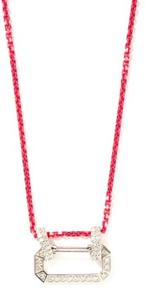 EÉRA Lucy Diamond & 18kt White-gold Necklace - Pink