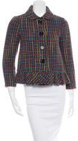 Kate Spade Tweed Long Sleeve Blazer