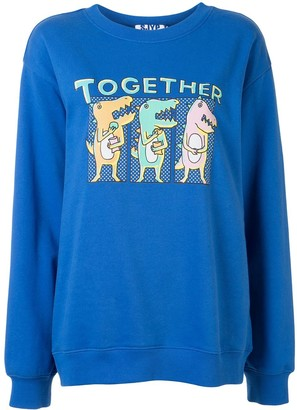 Sjyp Dino print sweatshirt