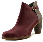 El Naturalista N472 Women Round Toe Leather Burgundy Ankle Boot.