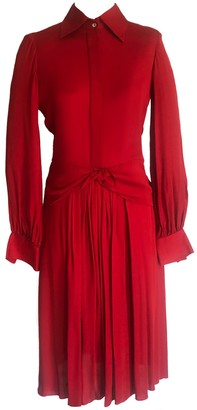 Onelady Caca Chemise Midi Dress In Red