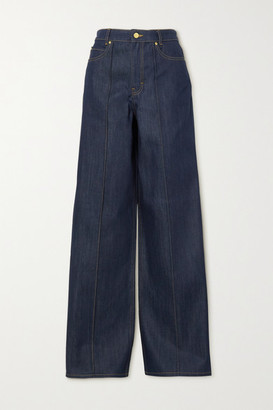 Victoria Victoria Beckham High-rise Wide-leg Jeans - Dark denim