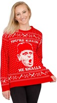 """Ugly Sweater Company Ugly Christmas Sweater """"You're Killing Me Smalls"""" Red Sweater"""