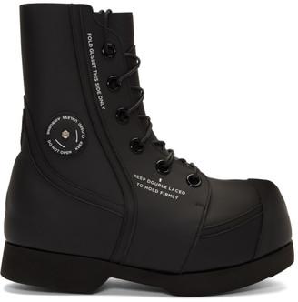 TAKAHIROMIYASHITA TheSoloist. Black Big Fat Toe Boots