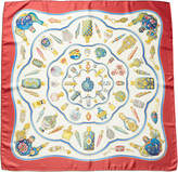 Hermes Qu'import Le Flacon By Catherine Baschet Silk Scarf