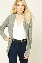 Forever 21 FOREVER 21+ Hooded Marled Knit Cardigan