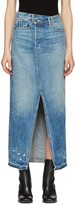 Helmut Lang Blue Denim Reconstructed Skirt